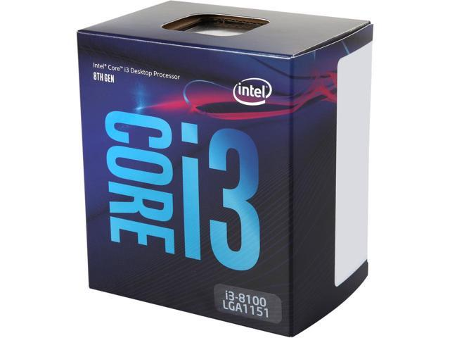 Intel Core I3-8100 Coffee Lake 4X3.6 Ghz 6Mb LGA1151 Box