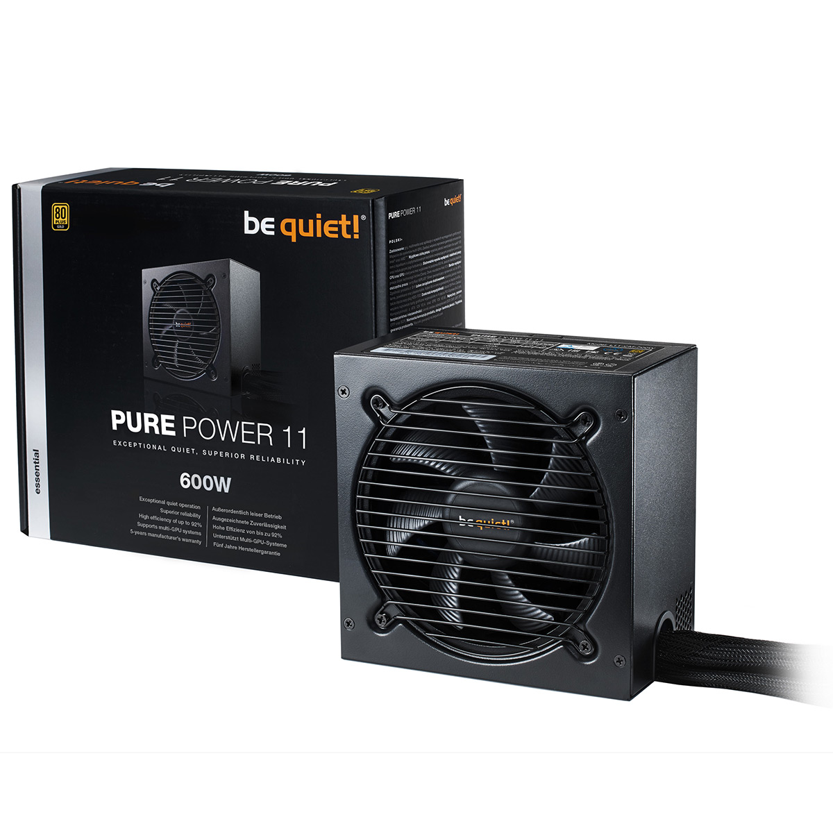 600W Watts Be Quiet Pure Power 11 120mm 80+ Modulaire Gold SLI