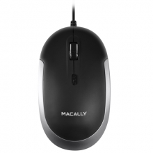 MACALLY Mouse DYNAMOUSE-B Noir Space gray/Black