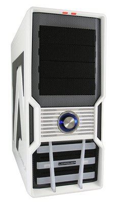 LC Power Boitier ATX Gaming 973W Fortress X blanc sans alim.
